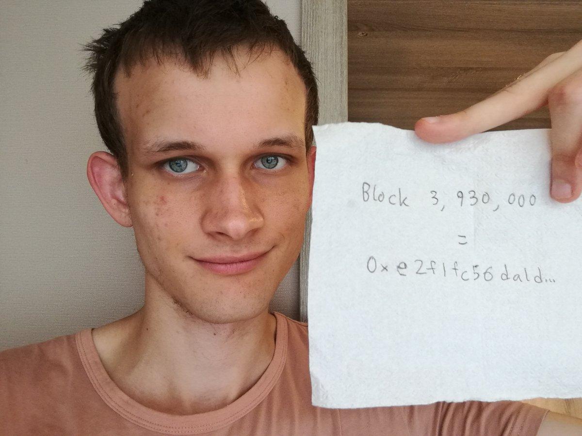 Vitalik Buterin rumor death block