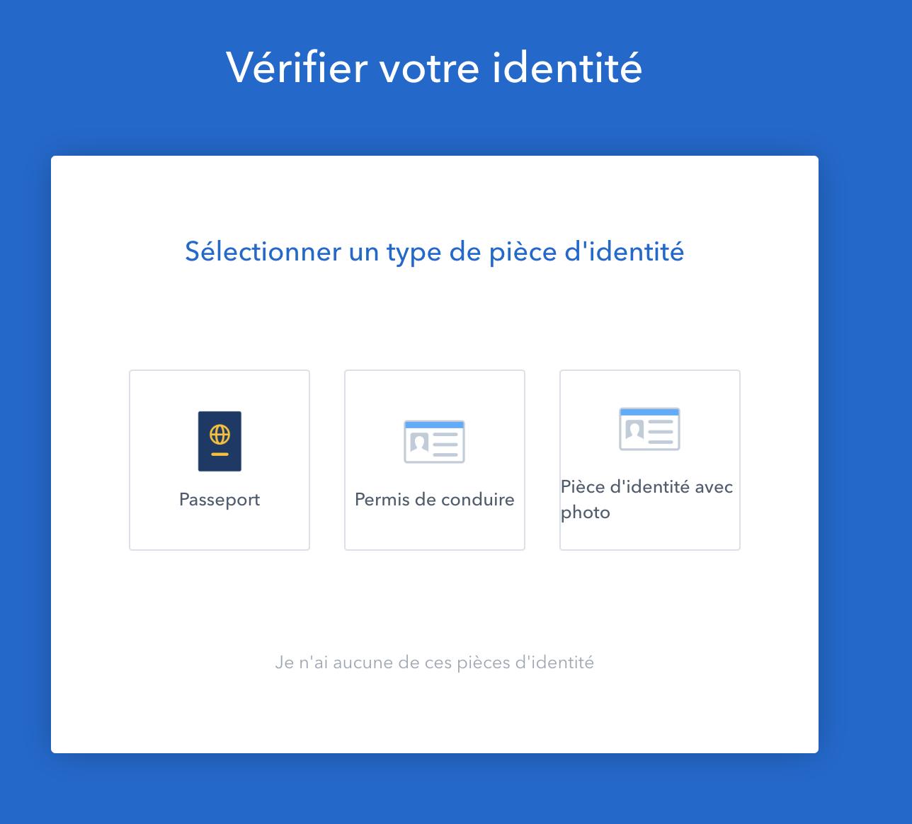 vérification identité Coinbase