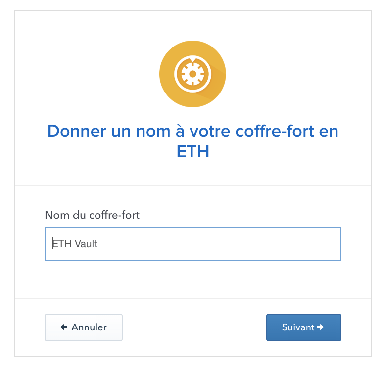 Coffre-fort Coinbase