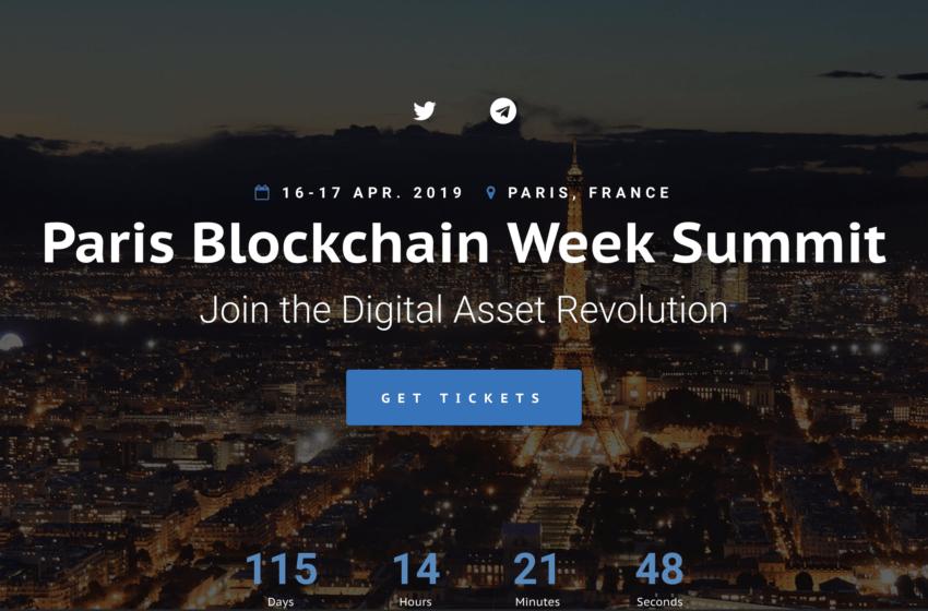 La France accueillera sa semaine consacrée à la Blockchain en Avril 2019