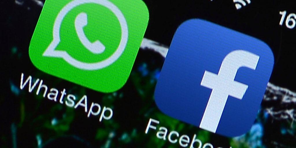 Les logos Whatsapp et Facebook