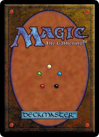 Le verso d'une carte Magic : The Gathering