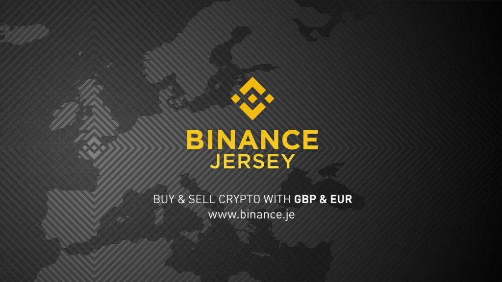 Image montrant l'europe et le logo de Binance Jersey