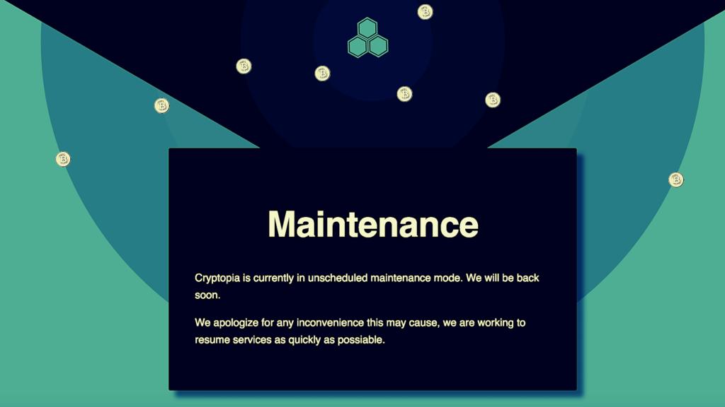Cryptopia maintenance