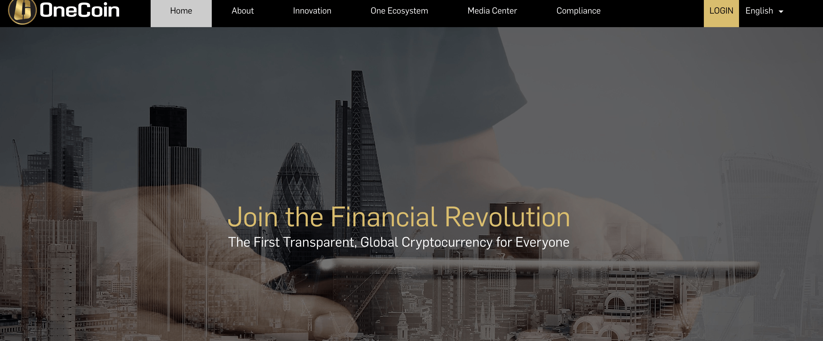 OneCoin website