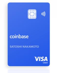 """Voici une image de la """"Coinbase Card"""" affichée sur le site officiel."""