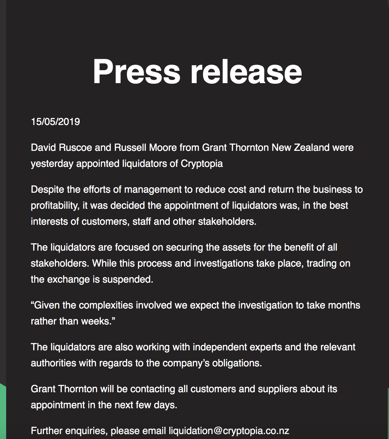 Voici ce que l'on retrouve sur leur site officiel.