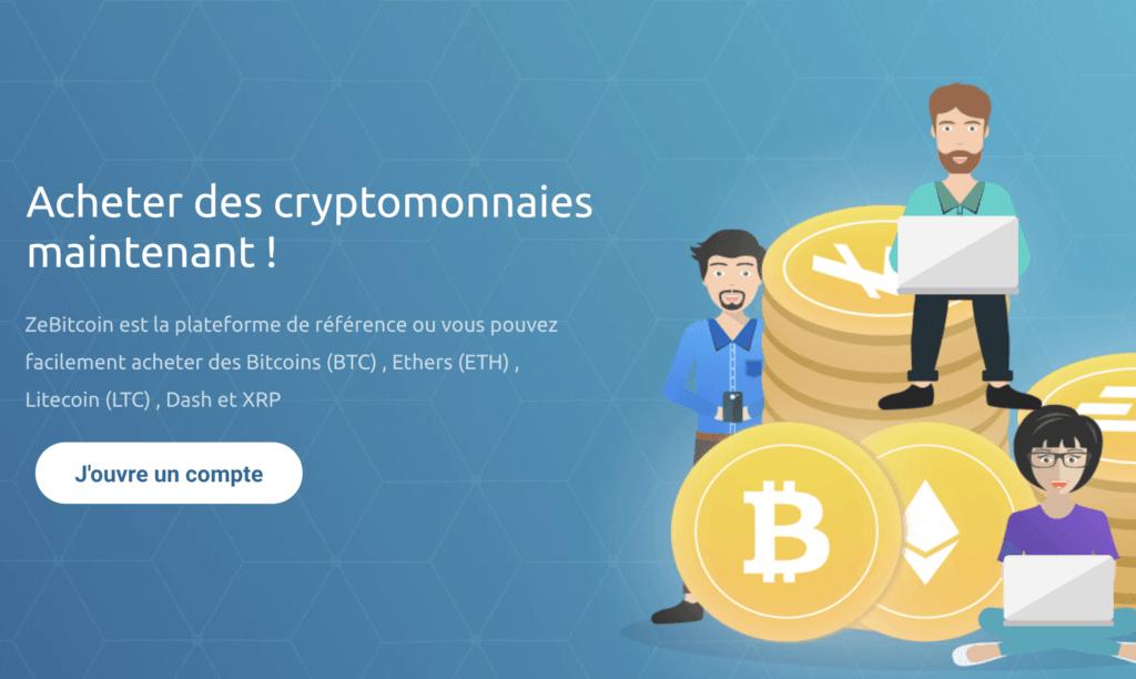 ZeBitcoin - plateforme d'achat de cryptomonnaie française