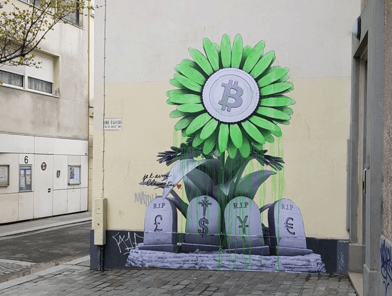Ludo, street art Bitcoin