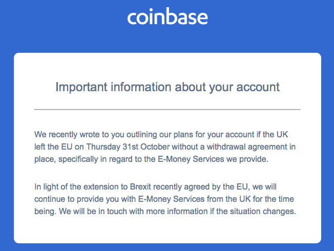 coinbase Brexit