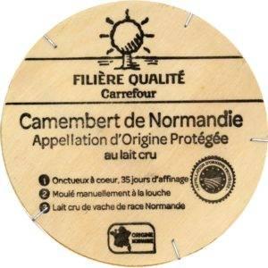 Exemple avec ce Camembert.