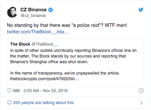 CZ Binance The Block