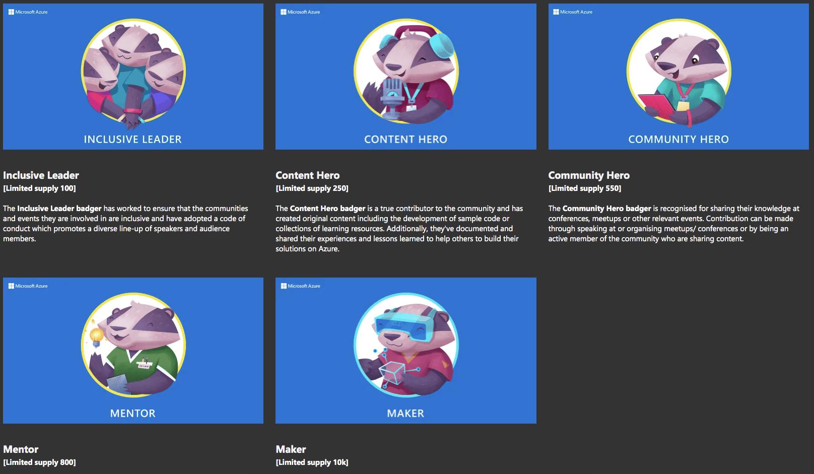 blaireaux Microsoft Azure Heroes Enjin