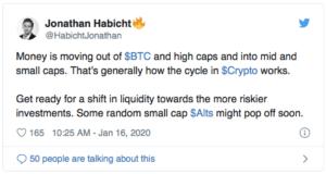 Twitter Jonathan Habicht bitcoin $BTC altseason