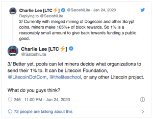 Charlie Lee Litecoin $LTC