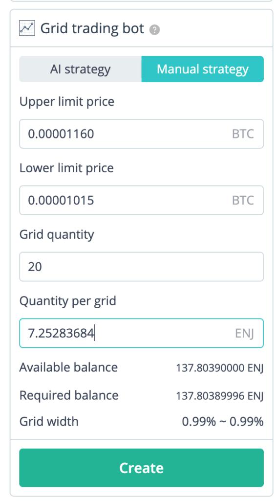 Configurer le Grid Trading