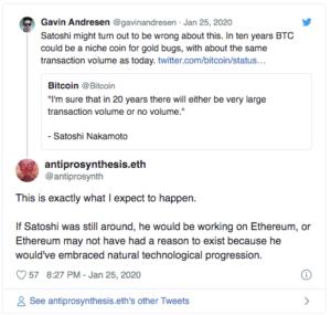 Satoshi Nakamoto Ethereum $ETH