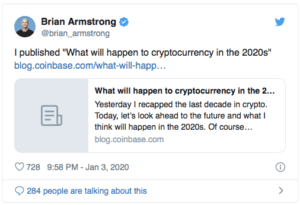 Twitter Brian Armstrong Coinbase