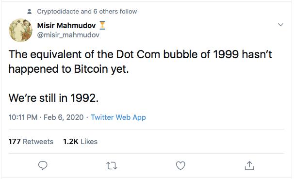 Bitcoin Bulle Internet