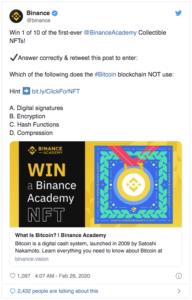 Binance concours NFT