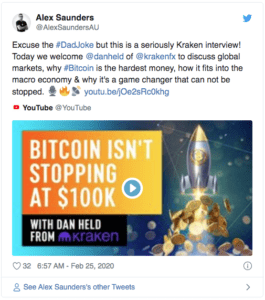 Alex Saunders Bitcoin $BTC $100000