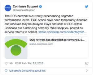 Coinbase $EOS