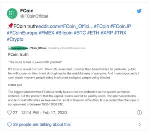 Fcoin faillite Exit Scam