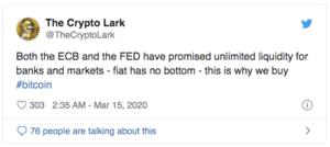 Bitcoin $BTC coronavirus Fed