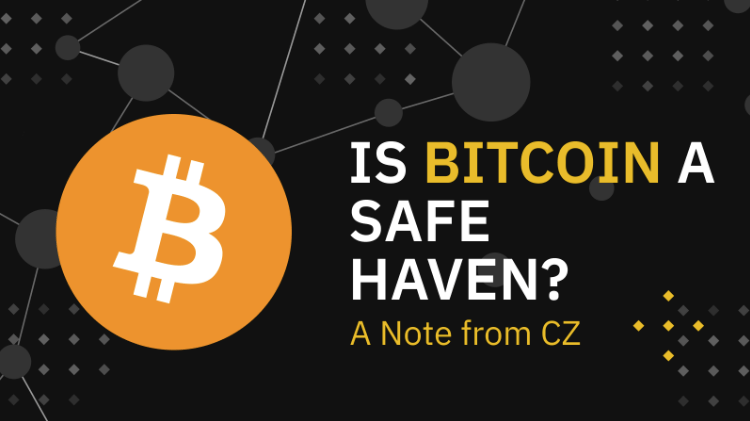 Binance havre de paix Bitcoin $BTC