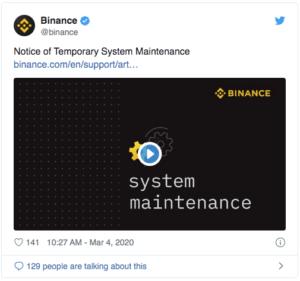 Binance maintenance