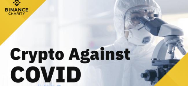 Binance lance une campagne de dons pour lutter contre le coronavirus