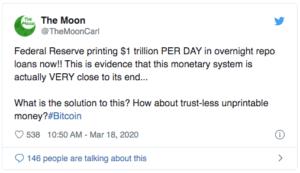 The Moon Twitter Bitcoin $BTC