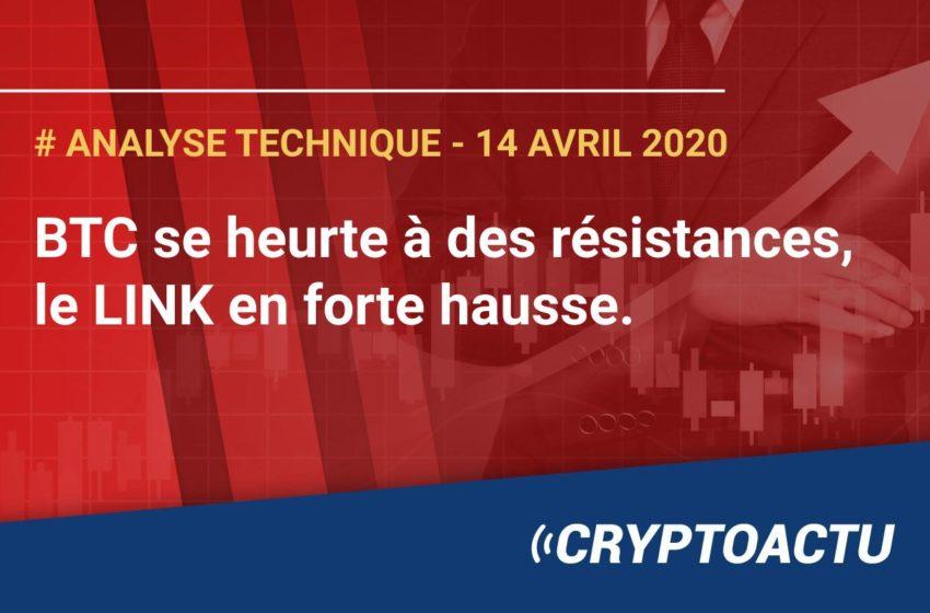 Analyse technique du 14 avril 2020 : Bitcoin (BTC) et LINK