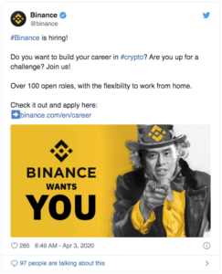 Binance recrute