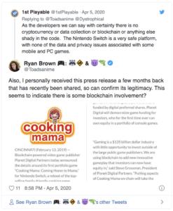 Cooking Mama cryptojacking