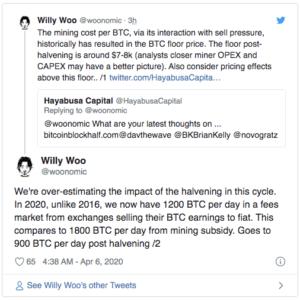 Willy Woo Bitcoin $BTC halving