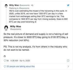 Willy Woo halvinh Bitcoin $BTC