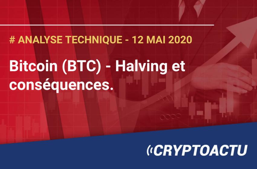 Analyse technique Bitcoin (BTC) – Halving et conséquences