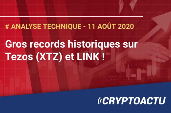 Gros records historiques sur Tezos (XTZ) et LINK !