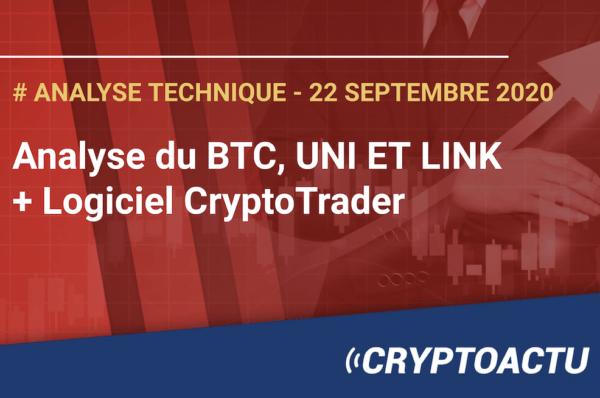 Analyse technique Bitcoin (BTC), UNI et LINK
