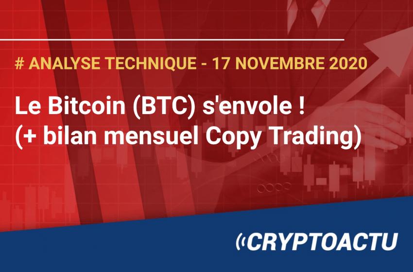 Analyse technique – Le Bitcoin (BTC) s'envole ! (+ bilan mensuel Copy Trading)