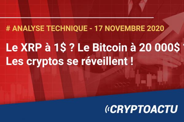 Le XRP à 1$ ? Le Bitcoin à 20 000$ ? Les cryptos se réveillent !