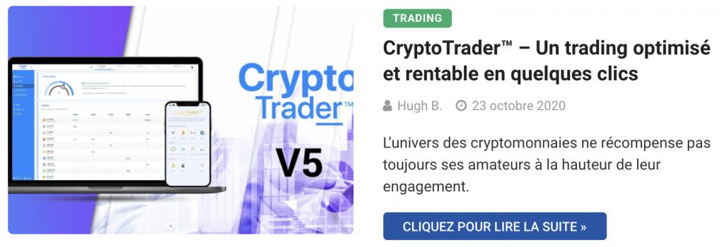 Application de trading CryptoTrader