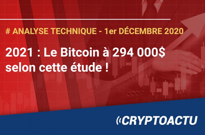 Analyse technique – Le Bitcoin à 294 000$ en 2021 selon cette étude !