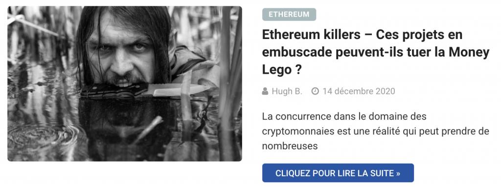 Ethereum killers – Ces projets en embuscade peuvent-ils tuer la Money Lego ?