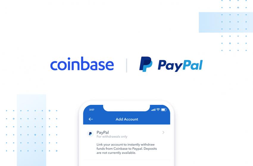 Paypal, nouvelle option de paiement sur Coinbase