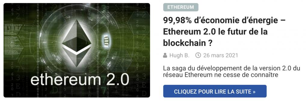 99,98% d'économie d'énergie – Ethereum 2.0 le futur de la blockchain ?