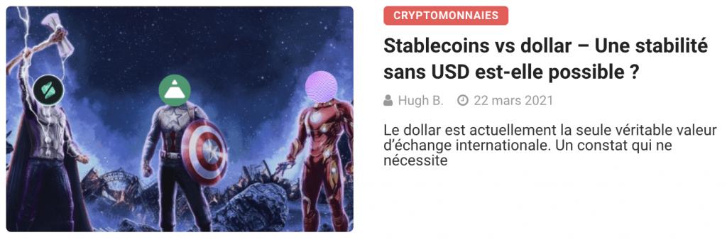 Stablecoins vs dollar – Une stabilité sans USD est-elle possible ?