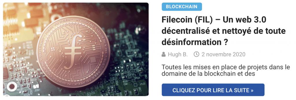 Filecoin (FIL) – Un web 3.0 décentralisé et nettoyé de toute désinformation ?
