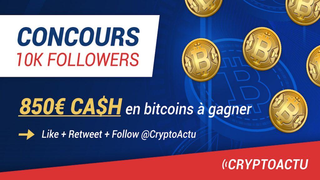 Concours 20 000 followers CryptoActu